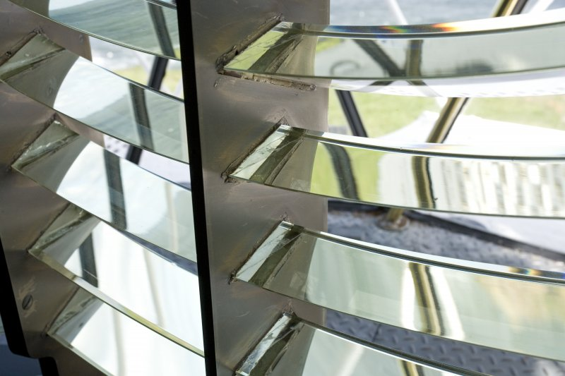 Interior. Detail of equiangular reflecting prisms