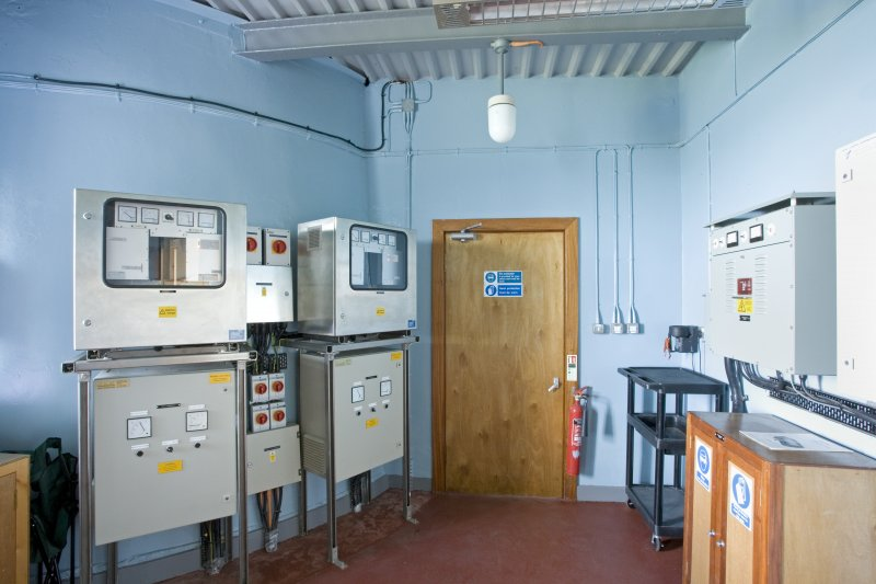 Interior. Ground floor. Engine House with modern generating equipment