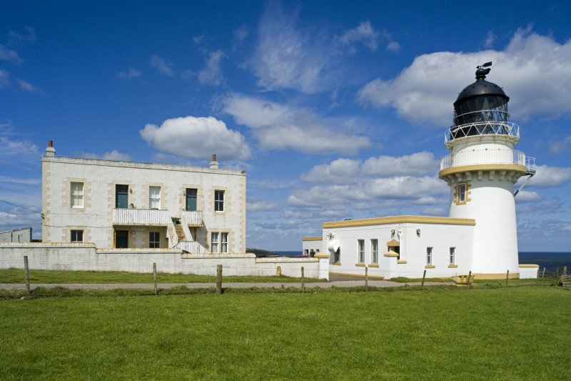 General view of lighthouse and keeper's accommodation from SSW