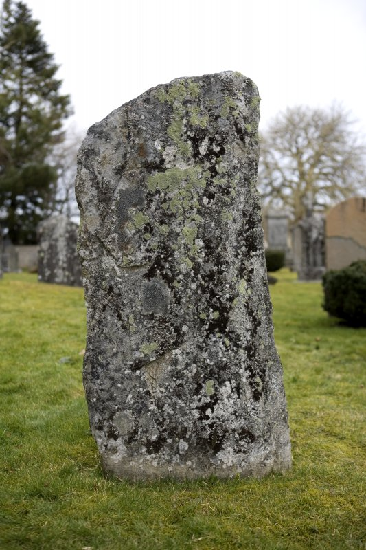 View of the Inverallan cross-incised slab from SW