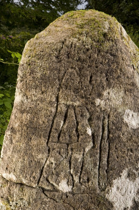 Detail of carved pictish figure
