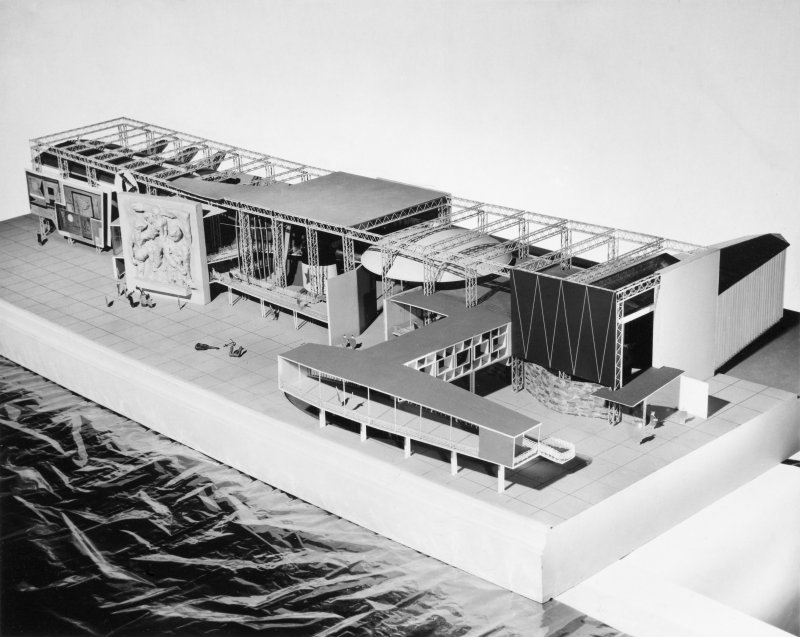 View of model for Sea and Ships Pavilion, Festival of Britain.