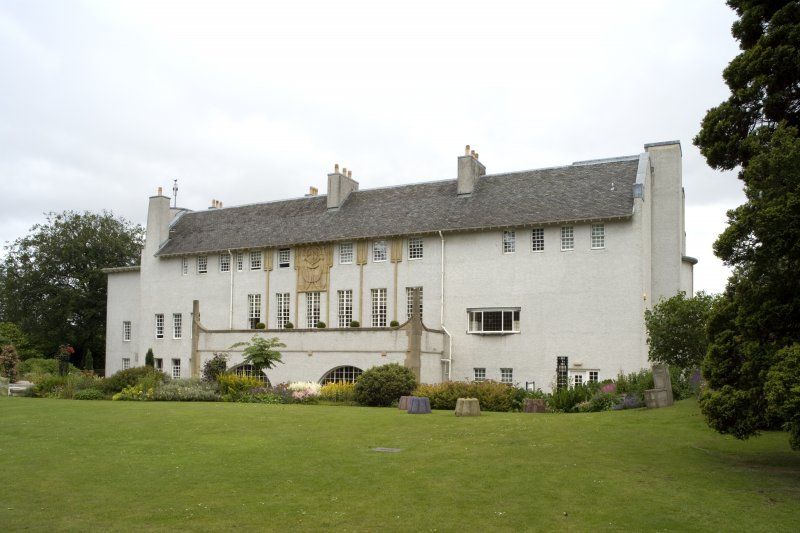 View of the House for an Art Lover, Bellahouston Park, Glasgow, from SW