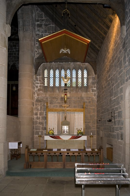 Interior. E side chapel, view from SW (flash)