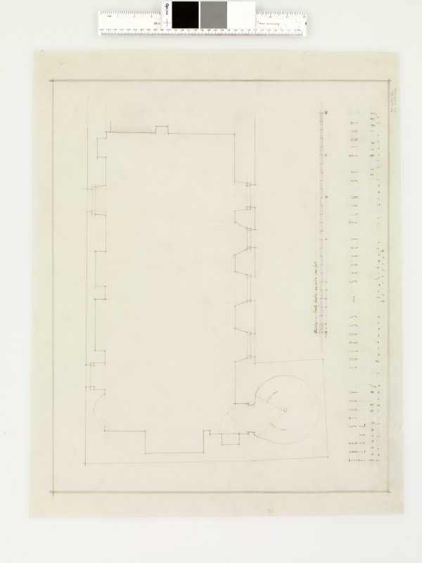 Survey plan of first floor.