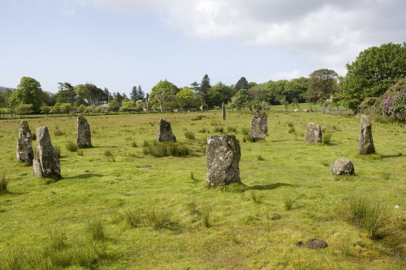Stone circle, view from NE
