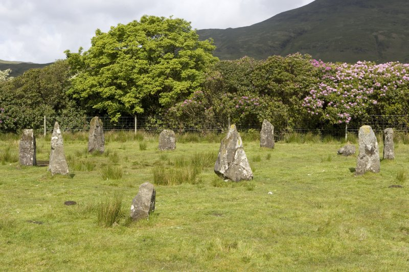 Stone circle, view from SE