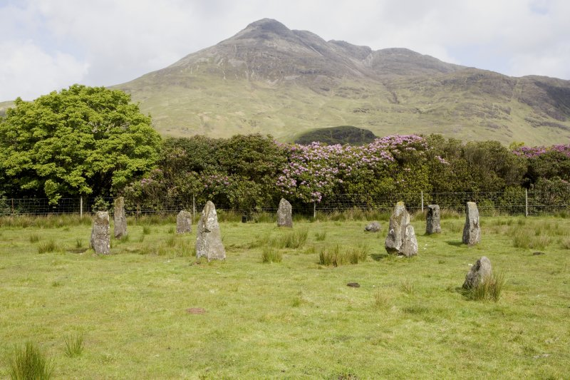 Stone circle, view from S