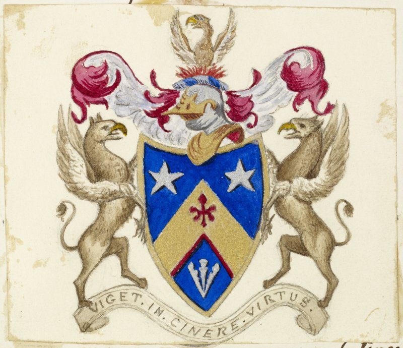 Davidson Arms inscribed ''Viget in Cinere Virtus''.