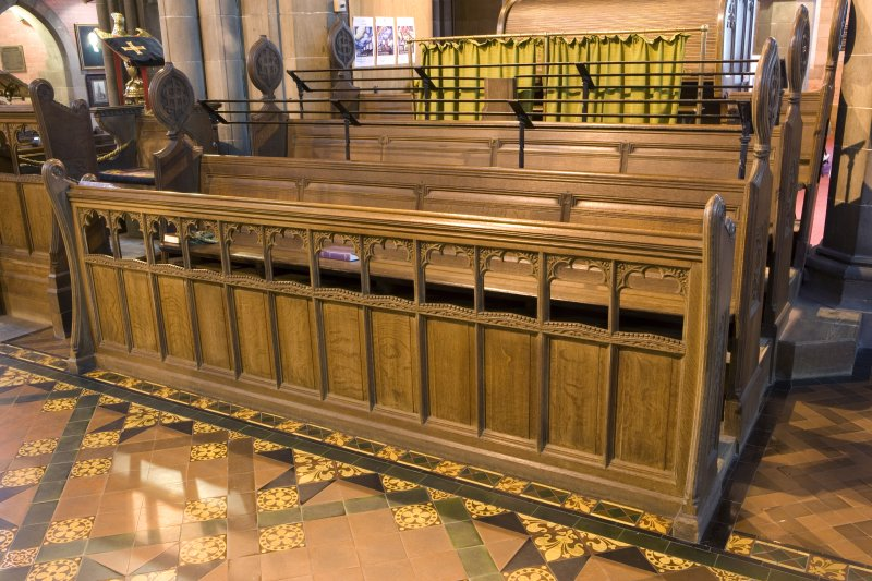 Interior, Detail of choir stalls