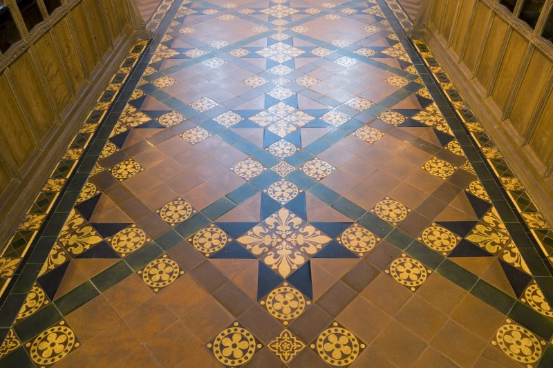 Interior. Detail of choir flooring