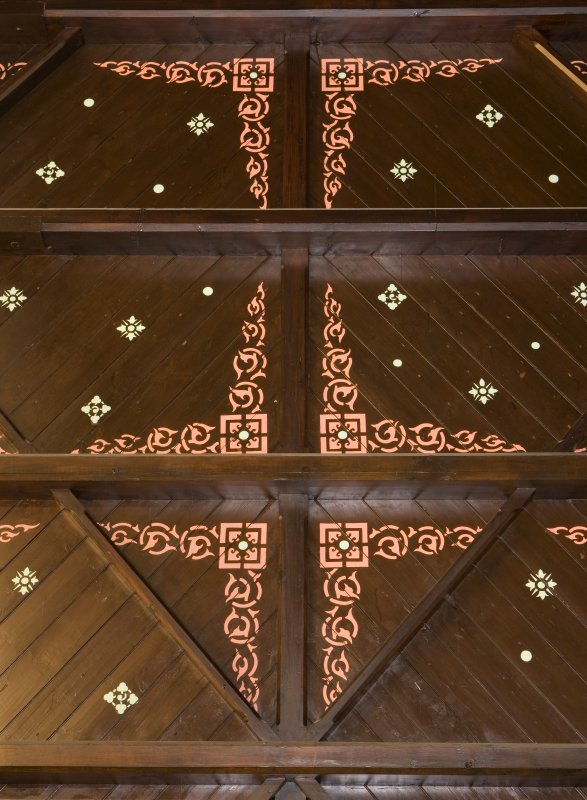Detail of chancel ceiling. St Modan's Parish Church, Rosneath.