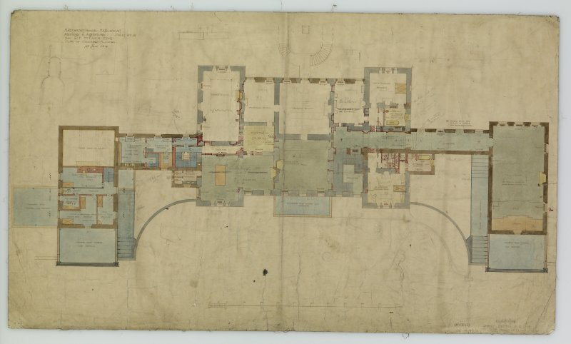 Plan of Ground Floor. Additions and alterations for R F McEwen.