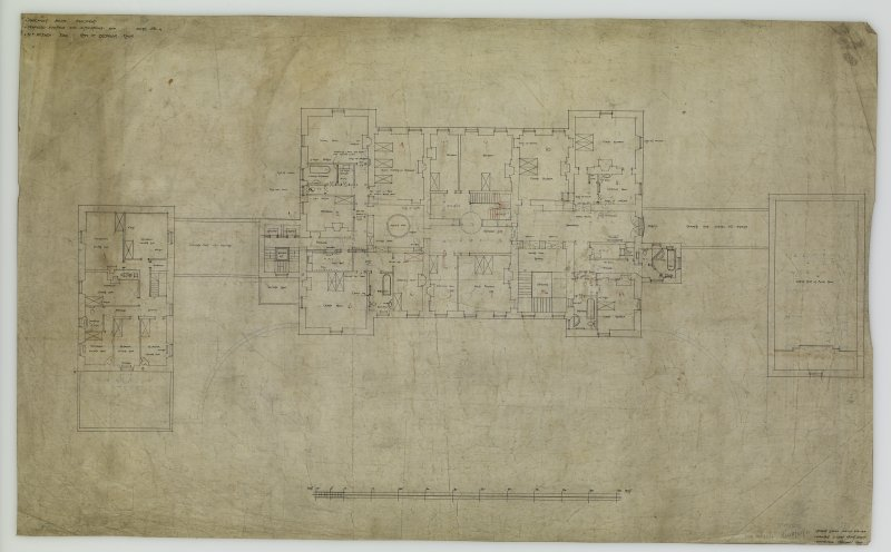 Plan of Bedroom Floor. Proposed additions and alterations for R F McEwen.