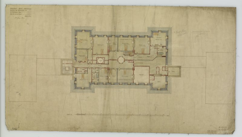 Plan of Attic Floor. Additions and alterations for R F McEwen.