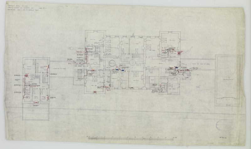 Plan of Bedroom Floor. Additions and alterations for R F McEwen.