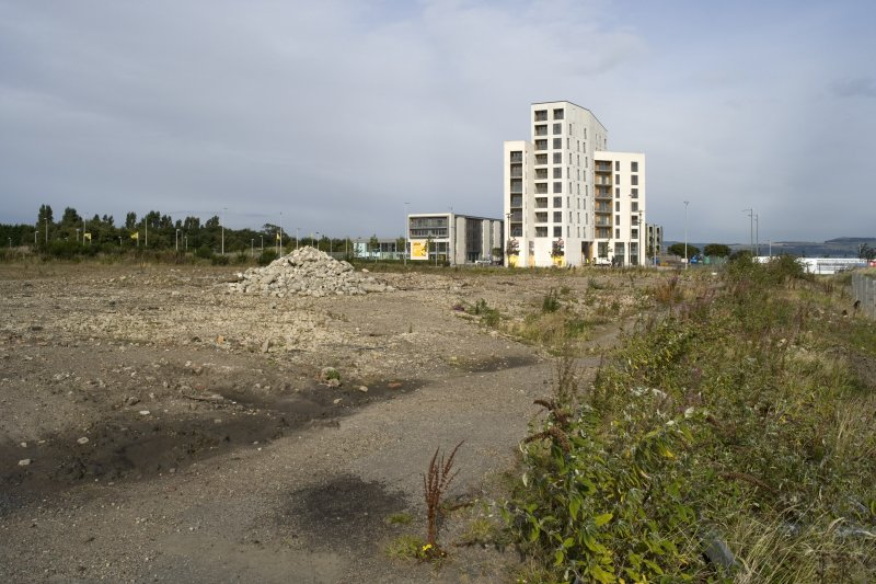 N end of site, view from SE