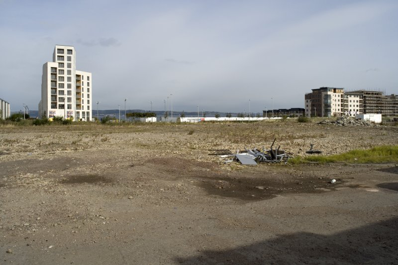 N end of site, view from SW