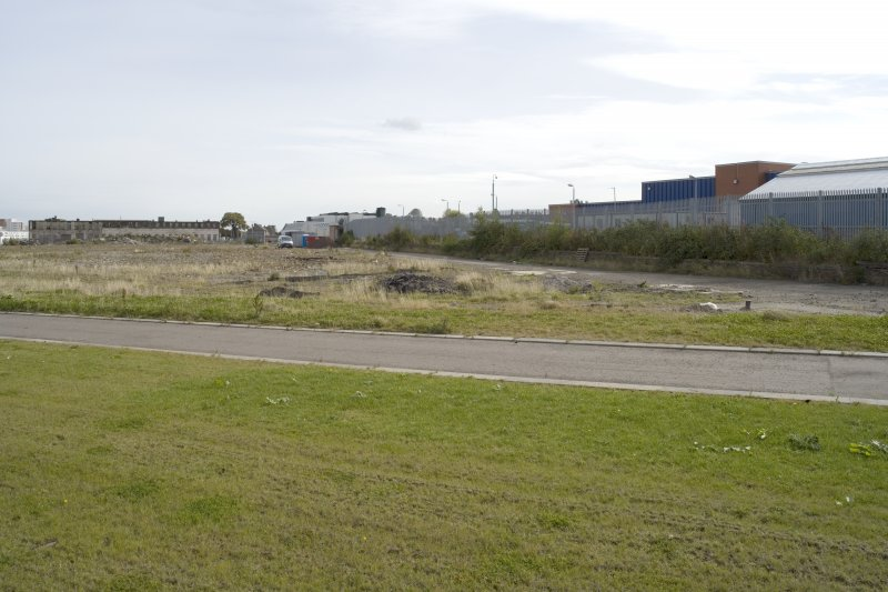 View of site from W