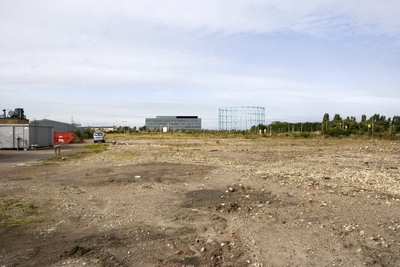 View of site from E