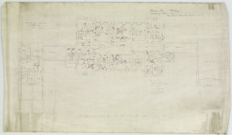 Additions and alterations for R F McEwen. Plan of bedrooms.