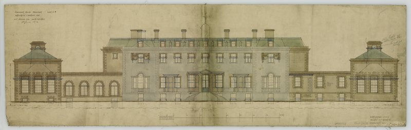 Additions and alterations for R F McEwen. South elevation.
