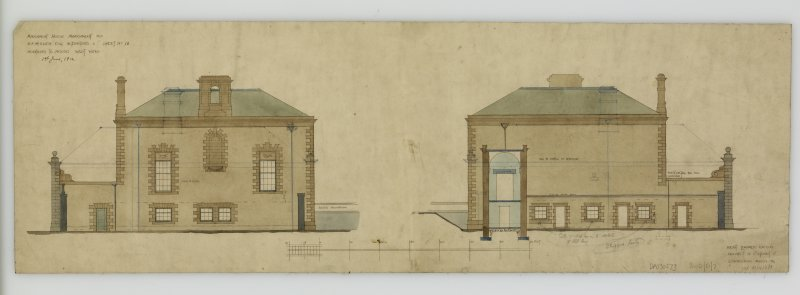Additions and alterations for R F McEwen. Additions to house, west wing.