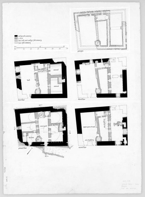 Digital copy of floor plans; ground to parapet. Publication copy of DC/24788, DC/24789 and DC/24790.