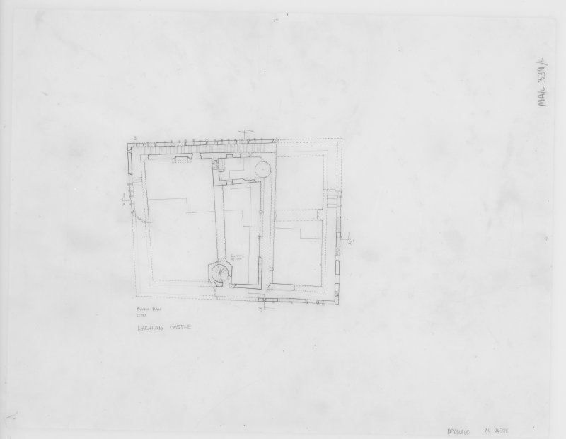 Digital copy of Parapet plan. Insc: 'Parapet Plan' 'Lachlan Castle'.