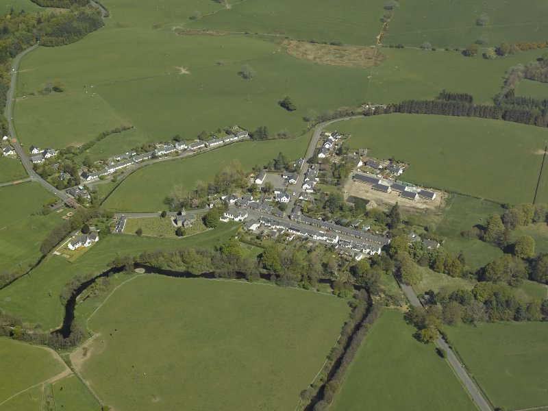 General oblique aerial view centred on village, taken from the S.