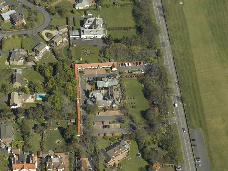 Oblique aerial view centred on Craigend House Hotel, taken from the N.