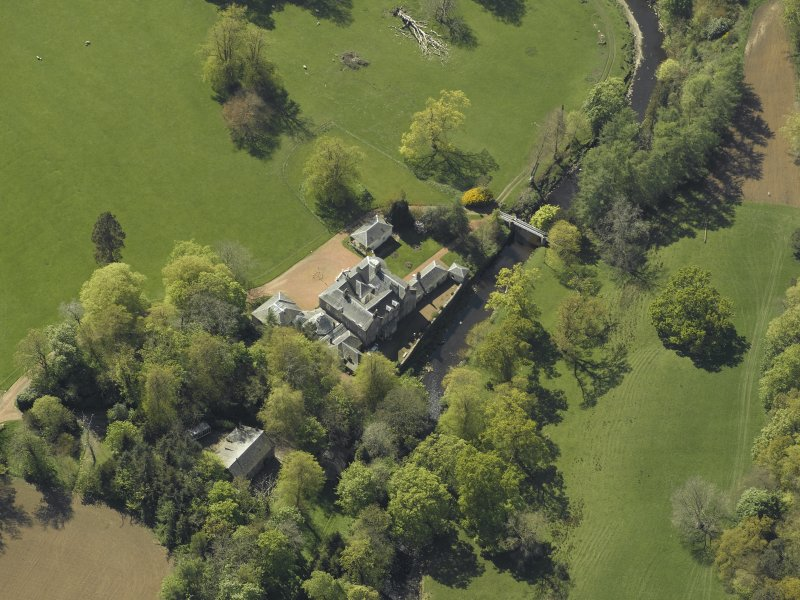 Oblique aerial view centred on Annick Lodge, taken from the NE.