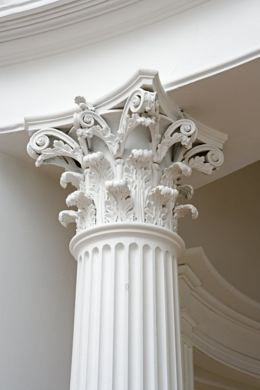 Interior. First floor, Central saloon, detail of corinthian capital