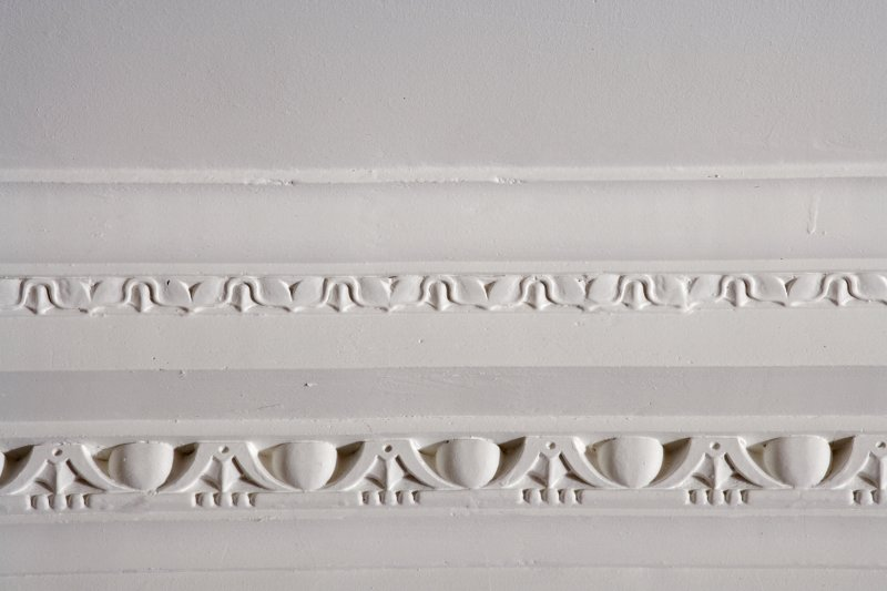 Interior. Ground floor, main entrance hall, detail of cornice