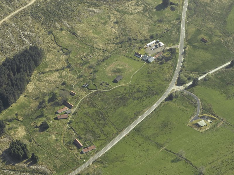 Oblique aerial view of the museum and the remains of the township, taken from the N.