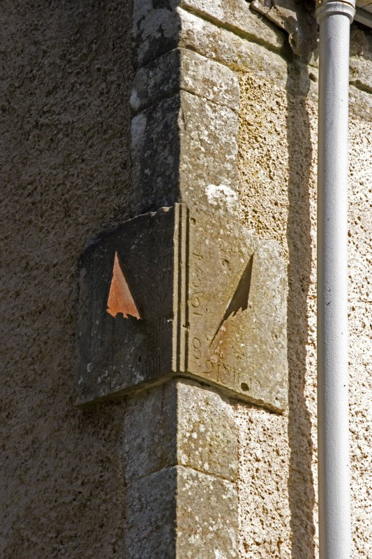 Detail of sundial, Lochnell House
