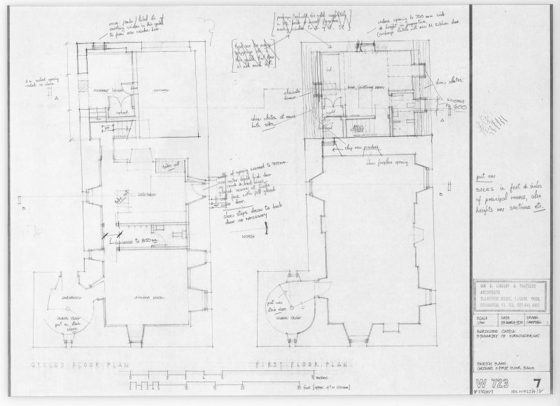 Ground and First Floor Plans.