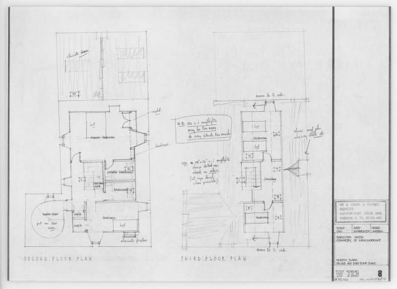 Second and Third Floor Plans.