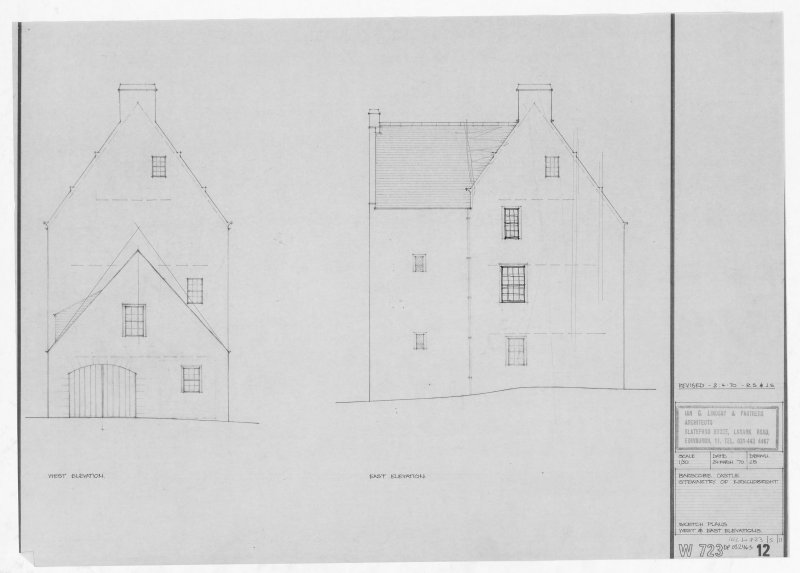 West and East Elevations.