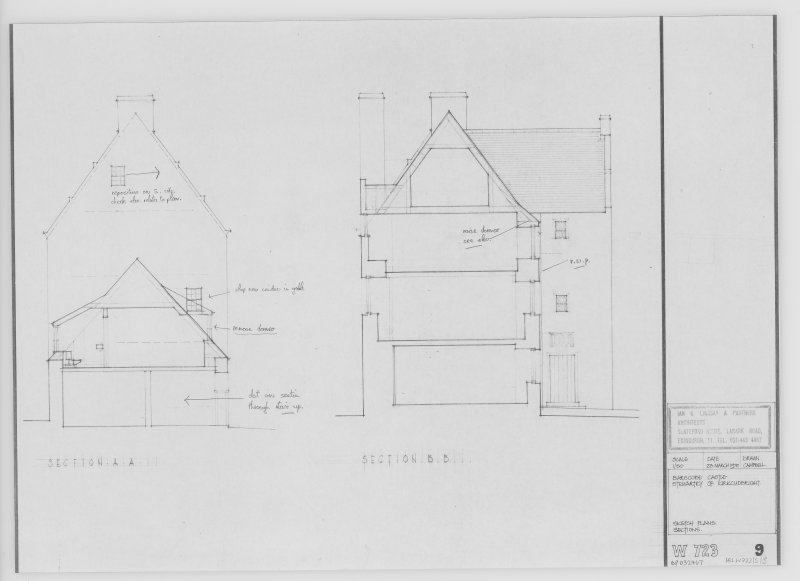 Sketch Plan Sections.