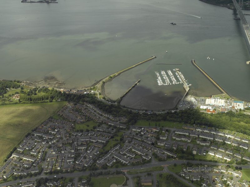 General oblique aerial view centred on the former Royal Naval Base, taken from the S.