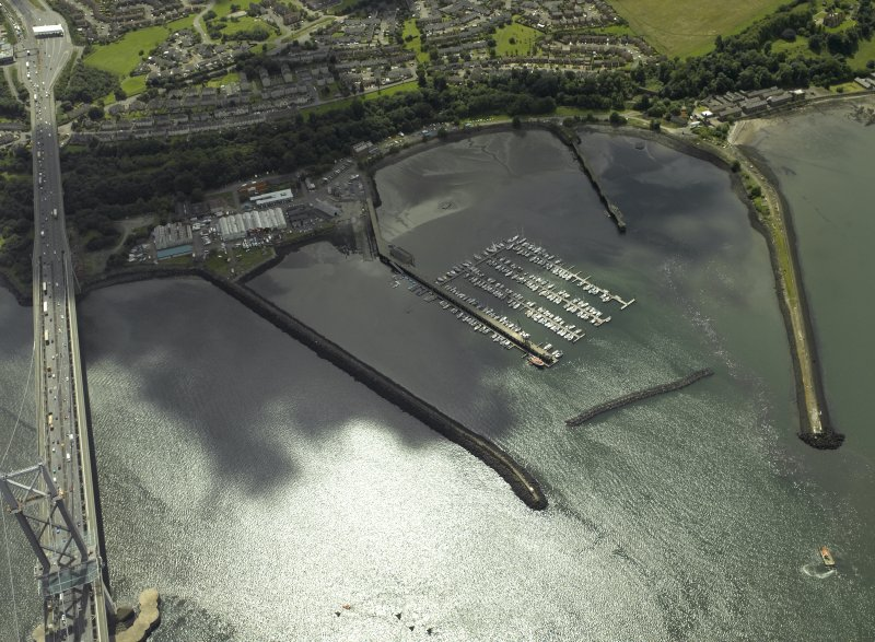 Oblique aerial view centred on the former Royal Naval Base, taken from the NNE.