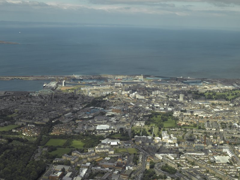 General oblique aerial view of Leith, taken from the WSW.