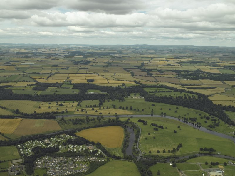 General oblique aerial view centred on Floors Castle and Estate, taken from the SE.