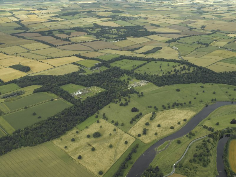 General oblique aerial  view centred on Floors Castle and Estate, taken from the SSE.