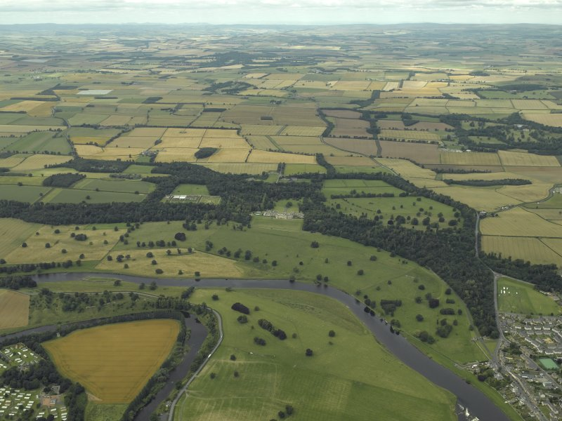 General oblique aerial general view centred on Floors Castle and Estate, taken from the S.