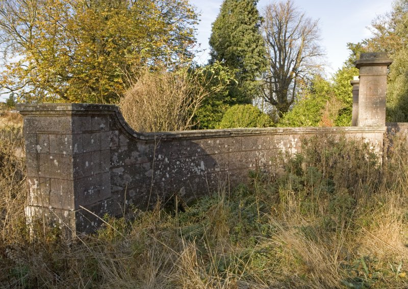 Detail of forecourt wall