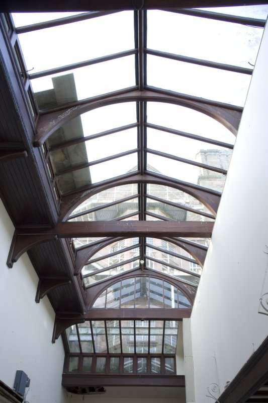 Interior. View of service court glazed roof