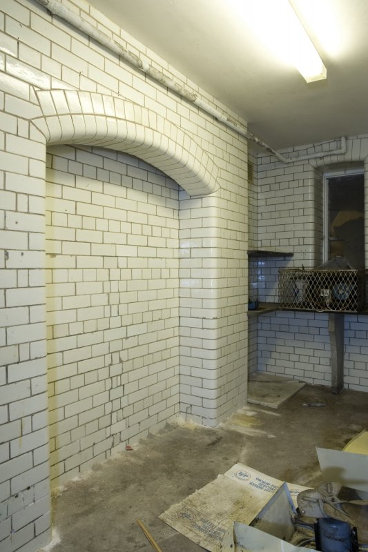 Interior. View of tiled pantry