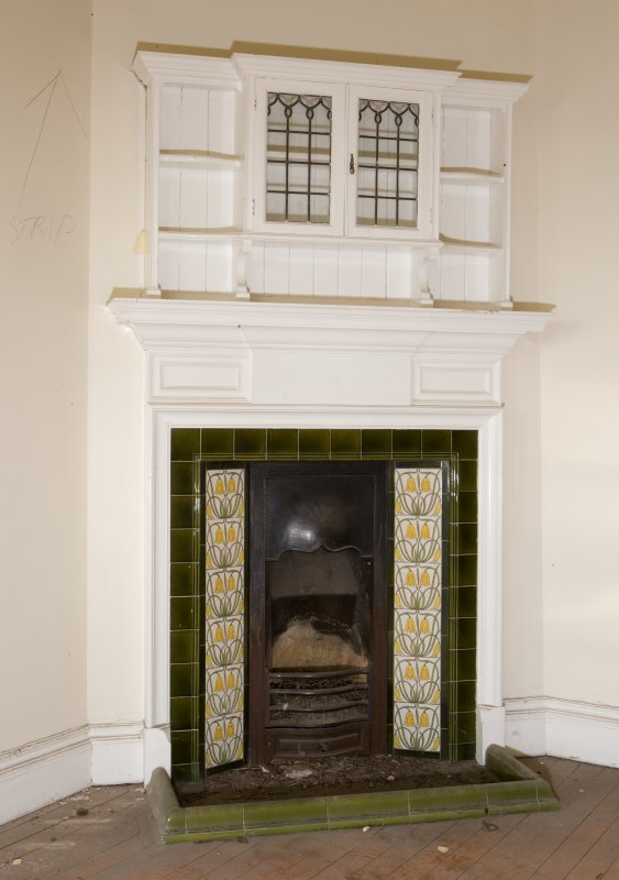 Interior. Second floor, detail of fireplace
